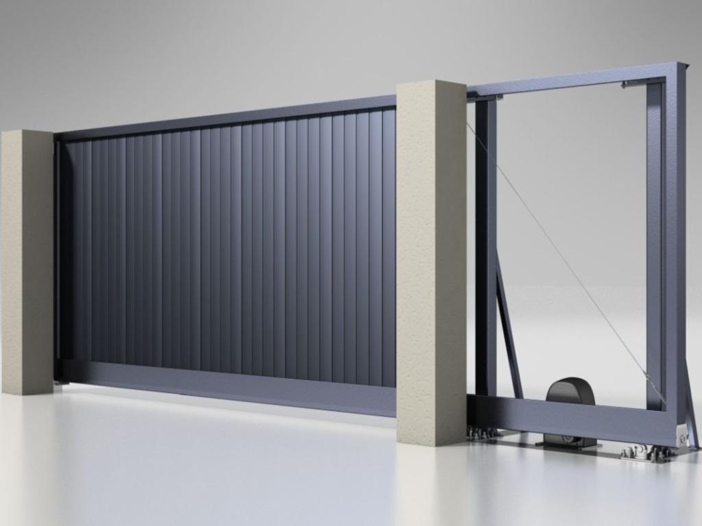 Откатные ворота Alutech Prestige P 5500х2250 мм