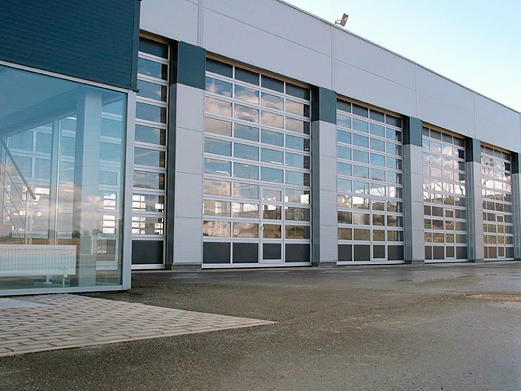 Панорамные ворота Alutech AluPro 2500х3000 мм