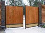 Распашные ворота ВоротаАвто RAD-Standart 3500х3000 мм
